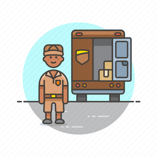 cargo, delivery, logistic, mailman, transport, truck, vehicle icon