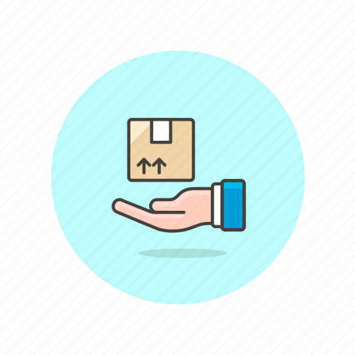 box, delivery, gift, hand, logistic, package icon