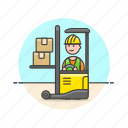 lift, logistic, package, truck icon