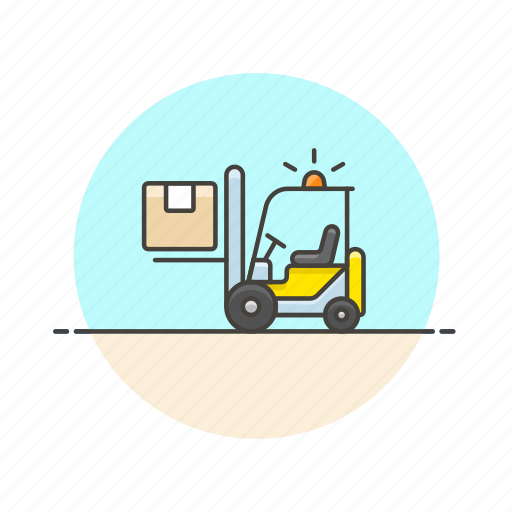 cargo, delivery, lift, logistic, package, transport, truck, vehicle icon