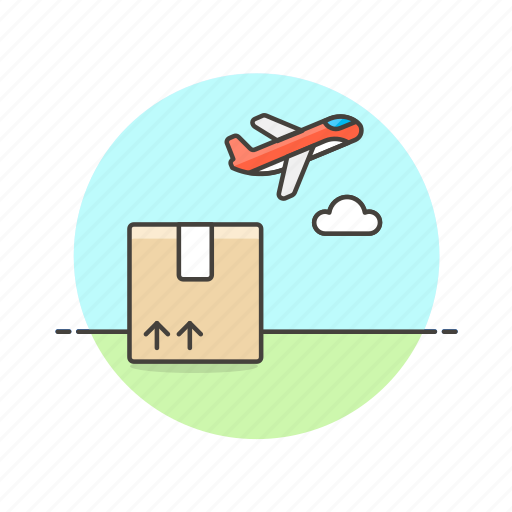 airplane, cargo, delivery, logistic, package, transport, vehicle icon