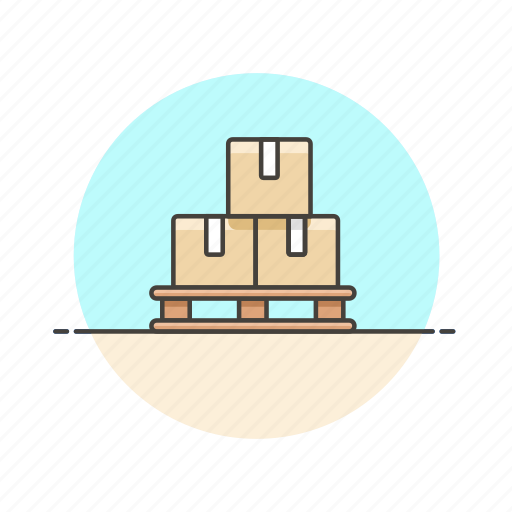 box, delivery, logistic, package, rack, stack, storage icon