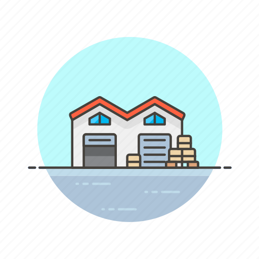 base, building, cargo, center, logistic, storage, warehouse icon