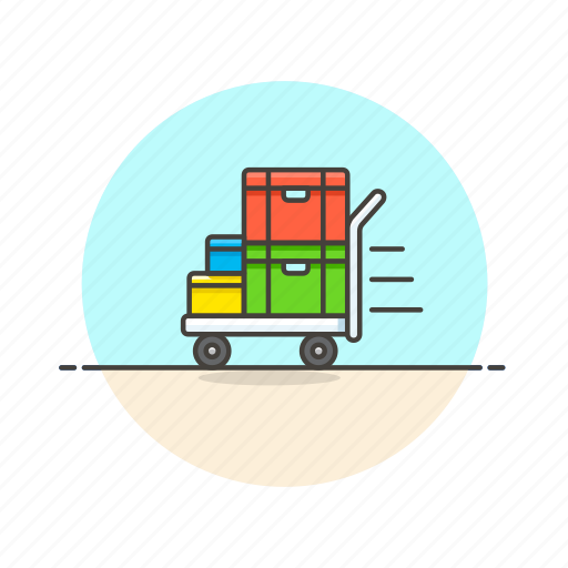 cargo, cart, delivery, logistic, storage, transport, vehicle, warehouse icon