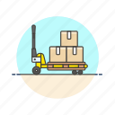 cart, logistic, warehouse icon