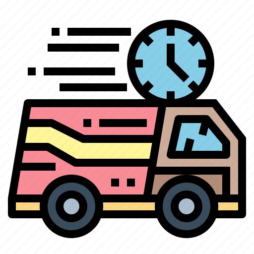 clock, delivery, fast, stopwatch, time icon
