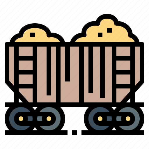 Cargo, delivery, shipping, train, transport icon - Download on Iconfinder