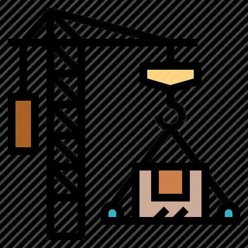 cargo, crane, logistics, shipping icon