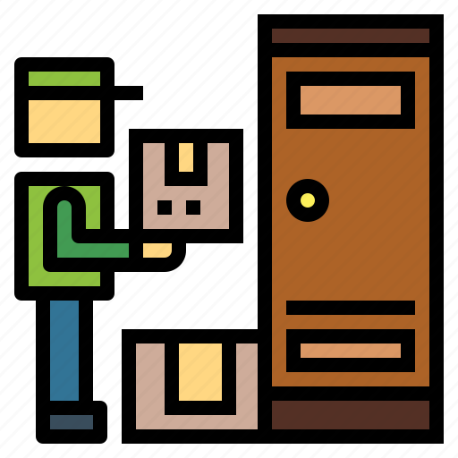 delivery, doorstep, package, shipping, transportation icon