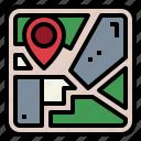 gps, location, map, pin