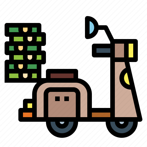 delivery, motorcycle, shipping, transportation icon