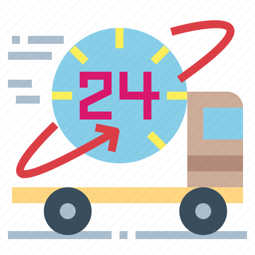 Delivery, hours, shipping, transport icon - Download on Iconfinder