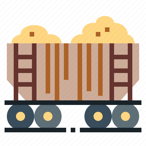 cargo, delivery, shipping, train, transport icon