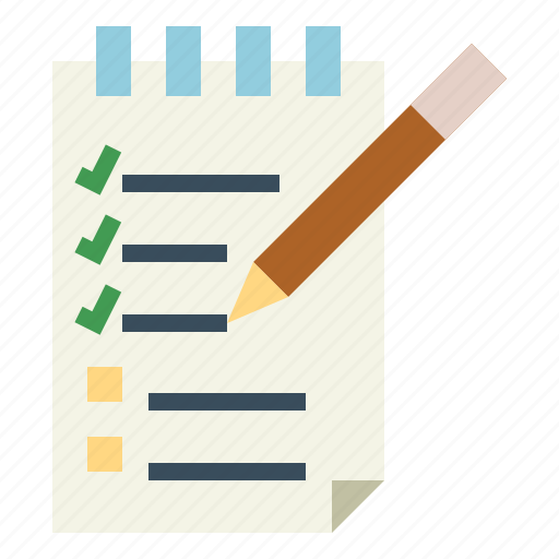 checking, checklist, list, paper icon