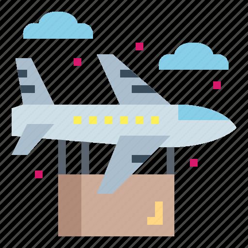 Cargo, flight, plane, transportation icon - Download on Iconfinder