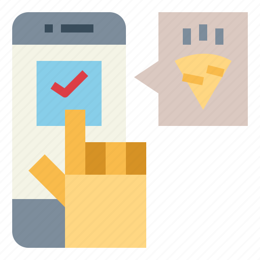 commerce, hand, order, phone icon