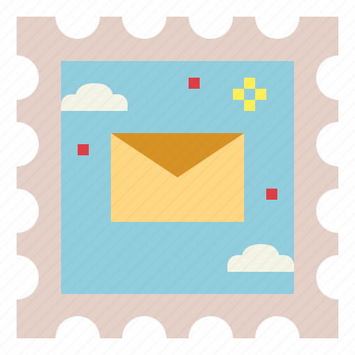 letter, mail, mailing, stamp icon