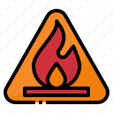 fire, flam, flammable, sign, warning icon