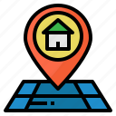 delivery, destination, location, map, point icon