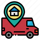 delivery, fast, location, tracking, van