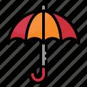 delivery, protect, rain, safe, umbrella icon