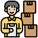 checking, inventory, parcel, stock, storage icon