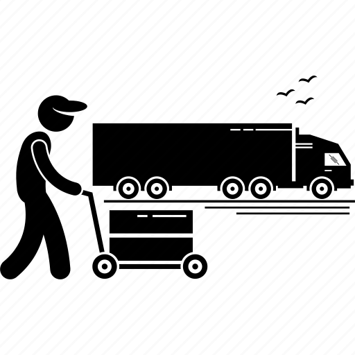 freighter, logistic, trailer, transportation, truck, vehicle icon