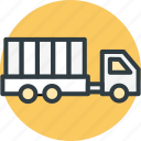 cargo, delivery, lorry, shipping, truck, truck icon