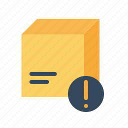 box, delivery, information, logistic, notice, package, parcel icon