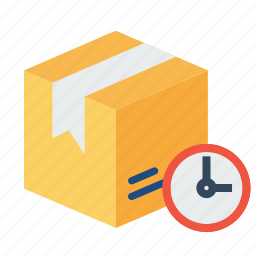 box, delivery, logistic, ontime, package, parcel, urgent icon
