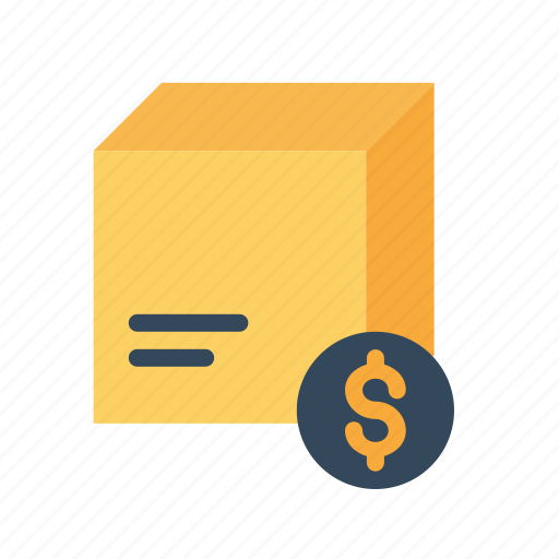 box, cod, delivery, dollar, logistic, package, search icon