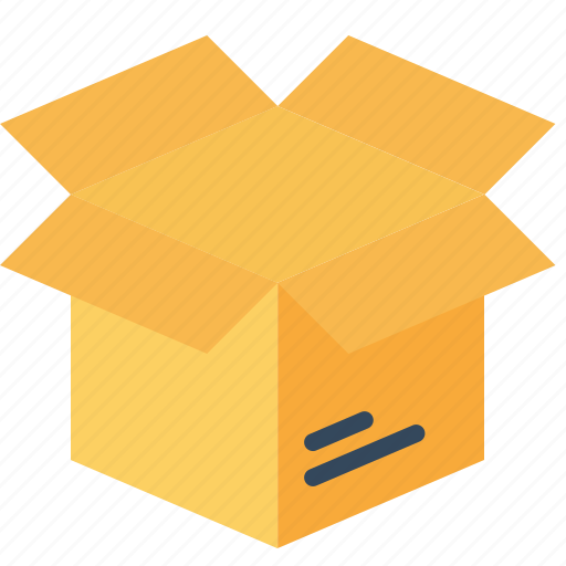 box, delivery, logistic, open, parcel, shipping, unpack icon