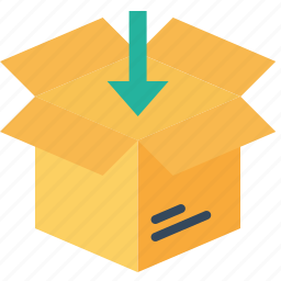 box, delivery, import, open, parcel, shipping, unpack icon