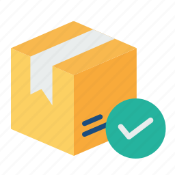box, delivery, logistic, package, parcel, trust, verify icon