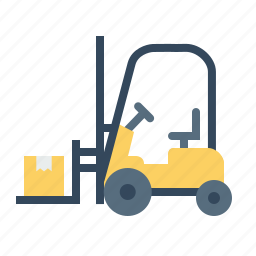 boxes, delivery, forklift, luggage, parcel, shipping, transport icon