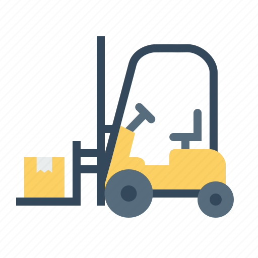 Boxes, delivery, forklift, luggage, parcel, shipping, transport icon - Download on Iconfinder