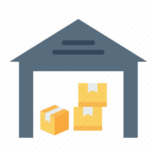 boxes, godown, luggage, storage, storehouse, transport, warehouse icon