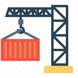 container, crain, export, lift, logistic, parcel, transport icon