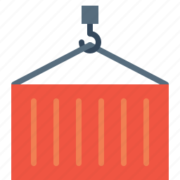 container, crain, cylinder, delivery, export, logistic, transport icon