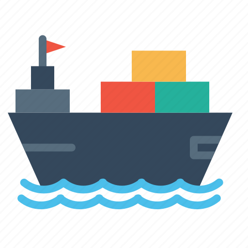 boat, container, deleivery, parcel, ship, transportation, vehicle icon