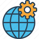 globel, international, logistic, setting, transport, travel, world icon