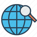 globe, globel, international, logistic, search, transport, world icon