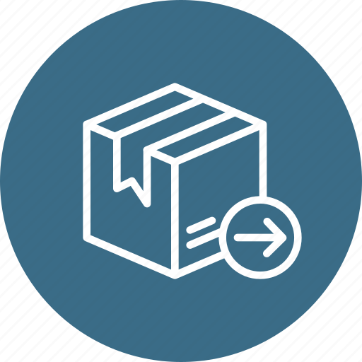 address, box, delivery, export, logistic, package, parcel icon