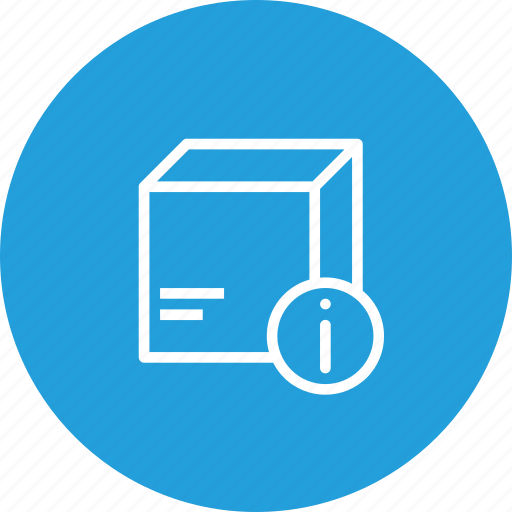 box, delivery, identity, information, logistic, package, parcel icon