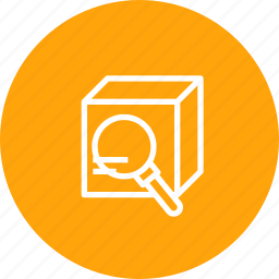box, delivery, find, logistic, package, parcel, search icon