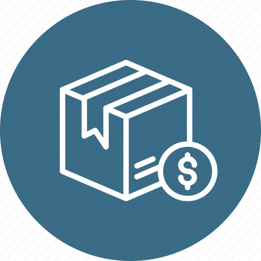 box, cash, delivery, dollar, logistic, package, parcel icon