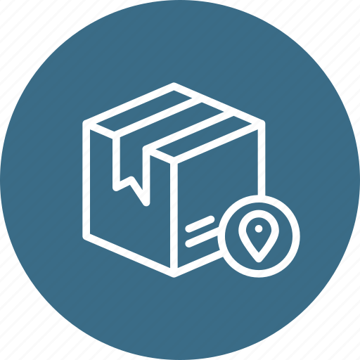 box, delivery, logistic, navigation, package, parcel, track icon