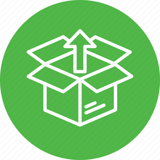 box, delivery, export, logistic, open, package, parcel icon