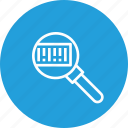 barcode, logistic, magnify, qrcode, scan, scanner, search