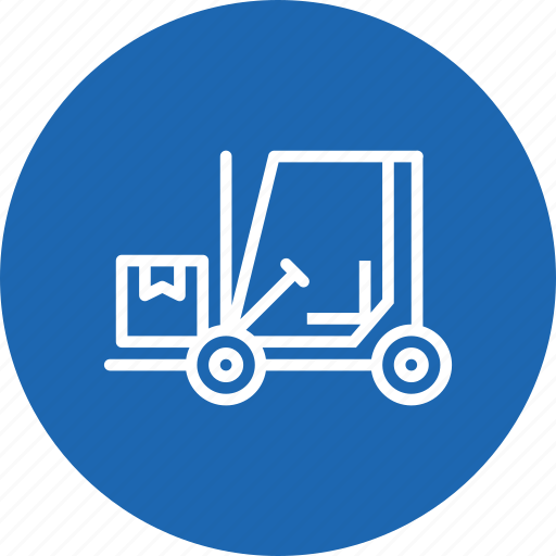 boxes, delivery, forklift, logistic, luggage, parcel, transport icon